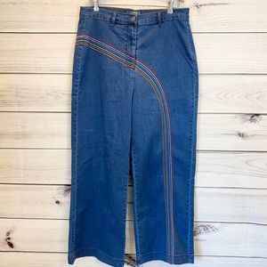 MODCLOTH Fervour Rainbow with Me Flare Jeans NEW